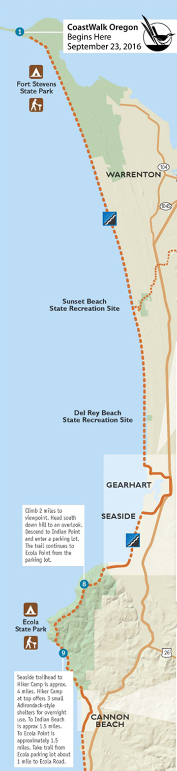 Map of oregon coast state parks